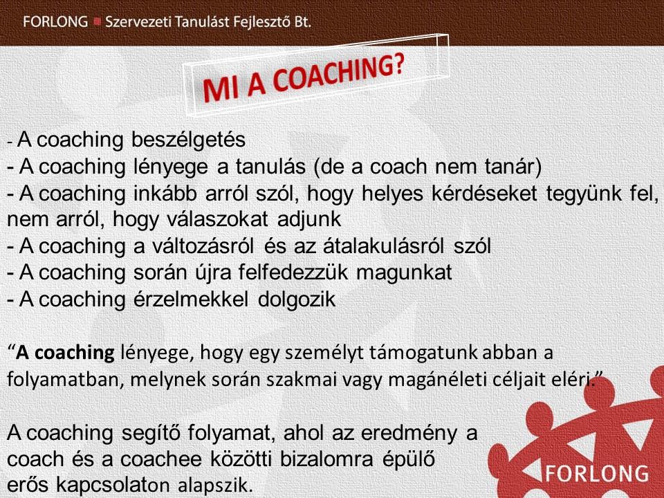 Mi a coaching