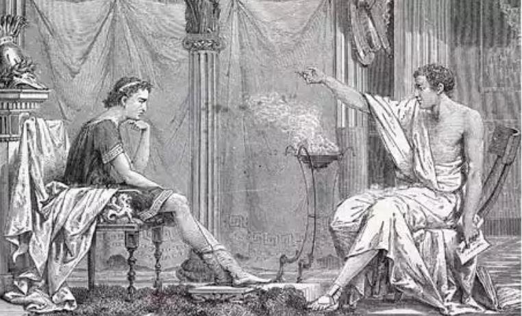 Nagy Sándor és tanítómestere Arisztotelész