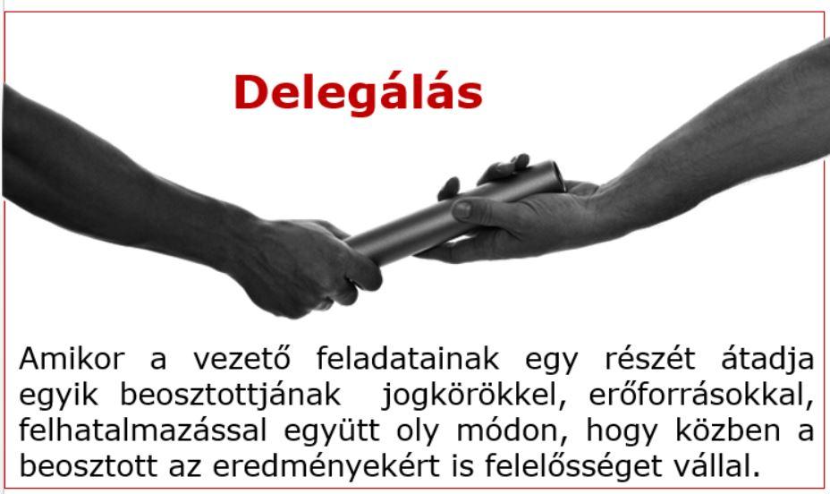 delegálás meghatározás definíció
